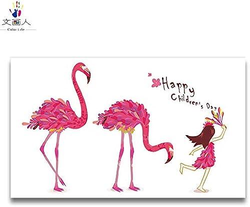 ahorrar en el despacho KYKDY Par Flamingo Animal pintura dibujar dibujos para para para Colorar por números con kits que simbolizan Amor para siempre con marco pintura diy sobre lienzo, 6357,80x100 sin marco  Seleccione de las marcas más nuevas como