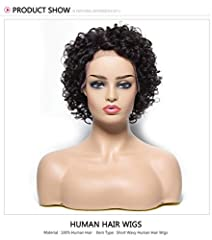 1.Hair Material: High quality brazilian remy human hair,soft and tangle-free without any shedding 2.Hair Features: Can be dyed, straightened, bleached and heated, When heated, please run through the hair soon in case of damage the hair. The wig has a...