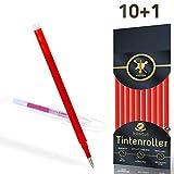 Ersatzminen für radierbare Kugelschreiber - edles rot - kompatibel zu Pilot Frixion Tintenroller - sehr gut gefüllte Minen, Strichstärke 0,7 [10 Stück]