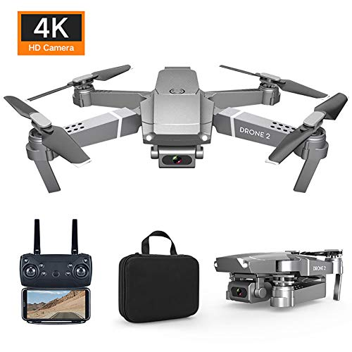 Matedepreso E68 Mini Drone with Camera WiFi HD FPV Video Foldable RC Quadcopter RTF 4CH 2.4Ghz Remote Control Drone Altitude Hold with Storage Bag
