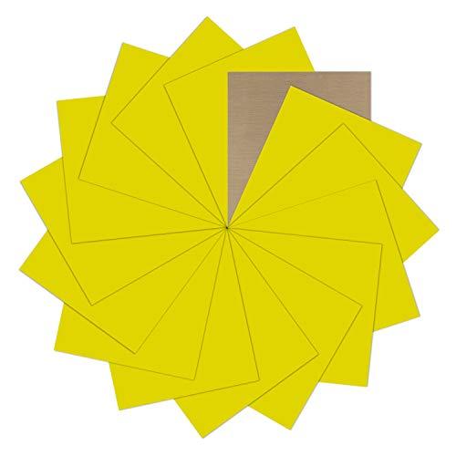 "Light Yellow Heat Transfer Vinyl Bundle : 15 Pack 12"" x 10"" Sheets - Iron on Vinyl for DIY Iron on Fabrics T-Shirts Heat Press Machine"
