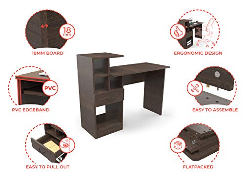 Decostyle Home Office Laptop Table with Revolving Chair
