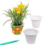 Baker Ross- Macetas para Flores Para Colorear y Decorar (Pack de 10). Manualidades Creativas para Niños Fiestas de Primavera y Verano