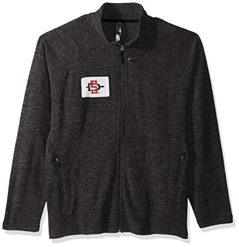 Ouray Sportswear NCAA San Diego State Azteken Herren Guidejacke, Charcoal Heather, XL