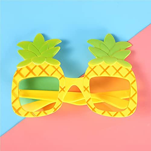 CYYS Gafas Divertidas de piña, Decoración de la Personalidad Gafas Divertidas Divertidas, Cumpleaños Diversión Vida Gafas Marco Amarillo Lentes Amarillos