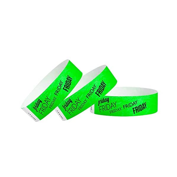 Days of The Week 3/4 inch Tyvek Wristbands for Events from WristCo