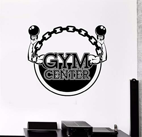 pegatinas de pared star wars Gym Center Kettlebells Bodybuilding Fitness Stickers para gimnasio