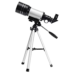 Junnom Space Astronomic Telescope, Professional 150X Kids Telescopes Sky Monocular Telescopes for Kids with Tripod and 2 Options Eyepiece Educational Toys for Sky Star Gazing