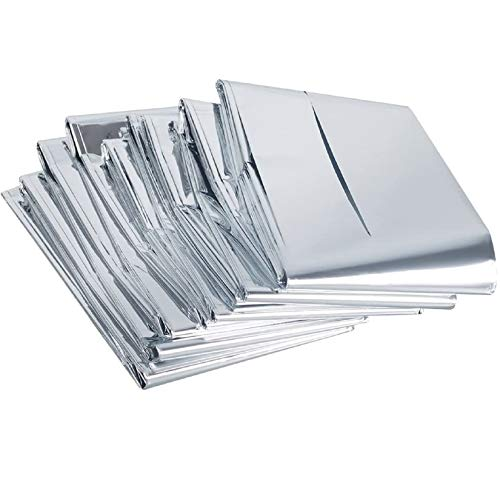 Tebery Rettungsdecken (160 x 210 cm) – Multifunktional Rettungsfolie Wärmedecke Schutzdecken (Packung mit 15 Stück)