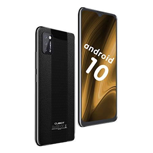 CUBOT Note 7 Smartphone 5.5' Teléfono móvil 4G 3100mAh Dual SIM Android 10.0, Triple Cámara 16GB ROM Face ID CUBOT Oficial,Negro