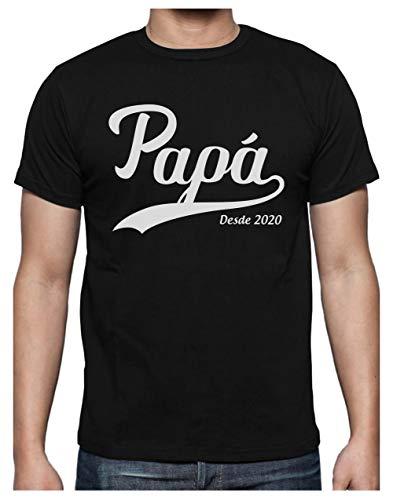 Green Turtle Camiseta para Hombre - Regalos Originales para Padres Primerizos - Papá Desde 2020 XX-Large Negro