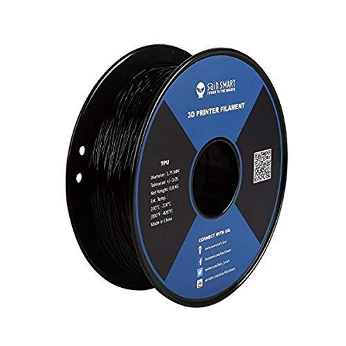 SainSmart - 101-90-164 Black Flexible TPU 3D Printing Filament, 1.75 mm, 0.8 kg, Dimensional Accuracy +/- 0.05 mm