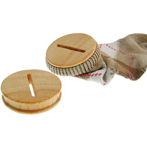Holz-Sparstrumpfverschluss, 8 Stück