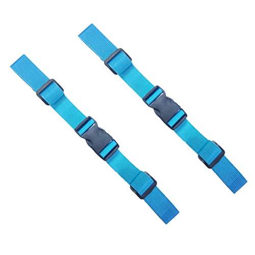 Générique Baoblaze 2pcs Ceinture de Poitrine/Taille Ajustable avec Ceinture en Nylon - Sangle de Poitrine Bleu Marine