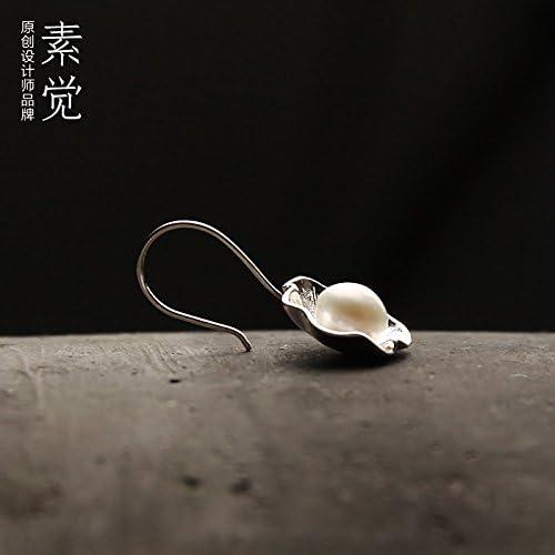 BAGEHAN 925 Silber Ohrringe handgefertigten Ohrringe Ohrringe Geschenk Frau Poppy Ohrringe