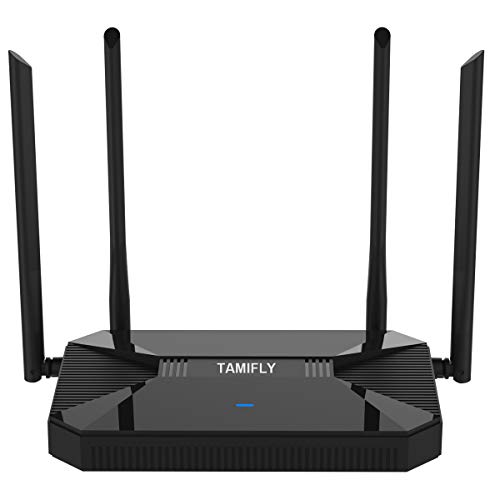 【Newest 2020】 Wireless WiFi Router High Speed Gaming Router Up to AC1200Mbps with Dual Band 2.4GHz and 5GHz Ideal for Home Office & HD Video Streaming Works Great with Any Devices