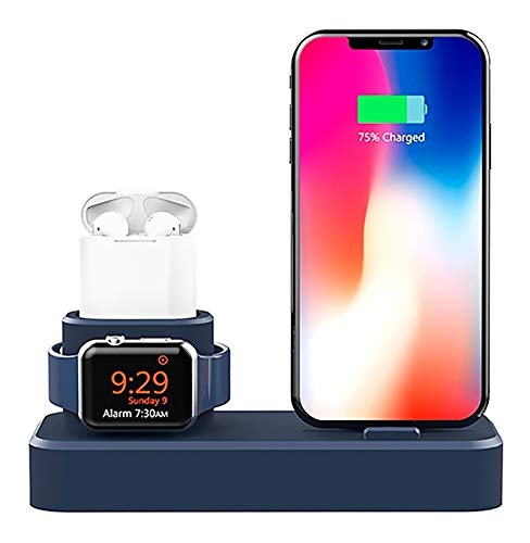 Dock Silicone Suporte Creme P/Apple Watch X Xr Xs Max