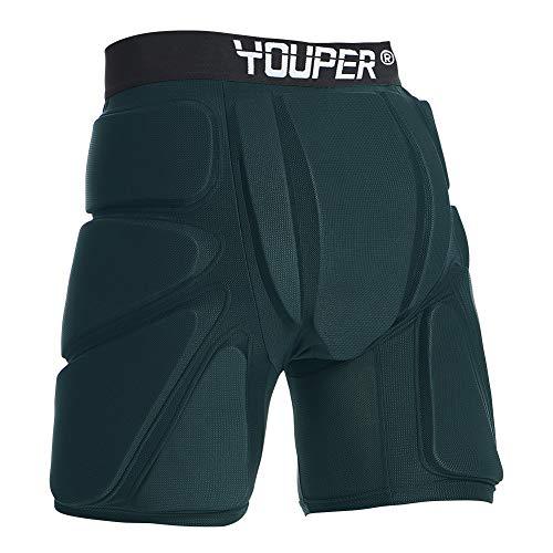 Youper Schutz-Shorts für Jugendliche und Erwachsene, gepolstert, 3D-Schutz für Hüfte, Po und Steißbein, Größe M