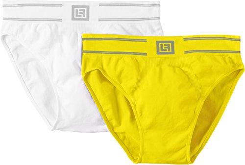 Slips para hombre amarillo y blando - Pack de 2