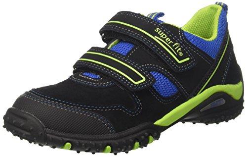 Superfit Jungen SPORT4 Sneaker, Schwarz (Schwarz Multi), 28 EU
