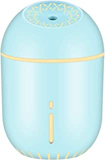 soled Mist Humidifier, Mini Humidifier, Mini Ultrasonic Cool Mist Air Maker Personal Humidifier Air Diffuser Home Car Office Living Room Bedroom Yoga, Quiet, Night Light, Auto Shut-Off (Blue)