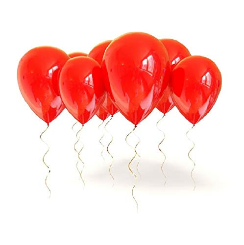 King's deal 12 inches100 Pcs Latex Balloons For Party Supplies Decorations Balloon -Red