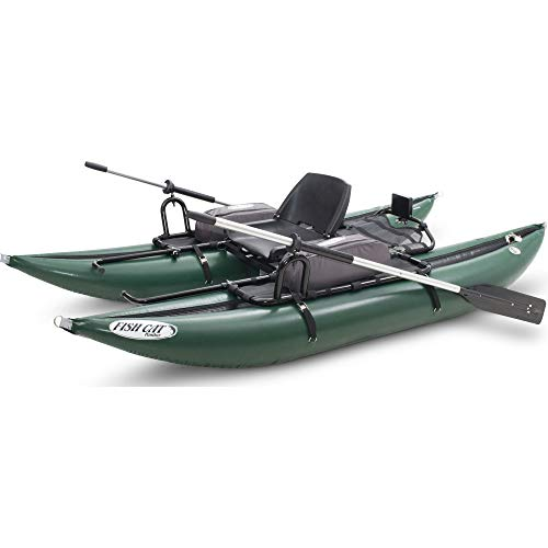 Outcast Sporting Gear Fish Cat Panther Inflatable Pontoon Boat Green