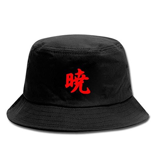 ALTcompluser Anime Naruto Shippuden Bucket Hat für Herren/Damen, Sonnenhut Fischerhüte Anglerhut Zum Wandern Camping Reisen Angeln(Einzelgröße Akatsuki)