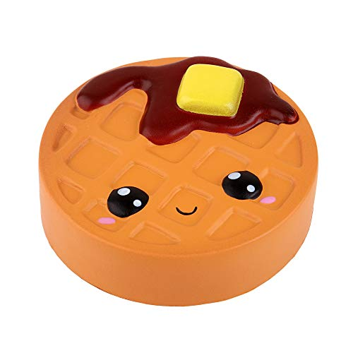 Anboor Squishies Chocolate Cake Emoji Kawaii Slow Steps Squeeze Toy Slow Rising Squishies Anti-Stress Toy for Kids Adults (11.5 * 11.5 * 4 cm) Pack of 1