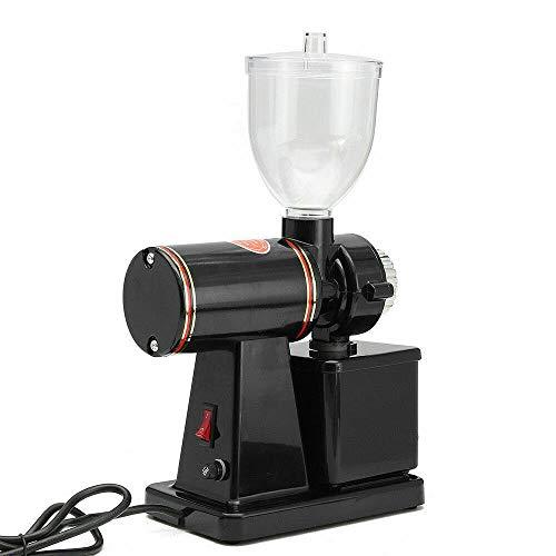 Berkalash Kaffeemühle, 100 Watt Elektrische Kegelmahlwerk 250g Bohnenbehälter, Verstellbarer Mahlgrad, mit 8 Mahlstufen, Kunststoff Schwarz
