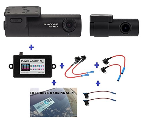 Blackvue DR590-2CH 16GB, Car Black Box/Car DVR Recorder, Full HD 1080p Front and Rear, 30FPS, G Sensor, 16GB SD Card + Power Magic Pro + Fuse taps + HDVD Warning Sign Included