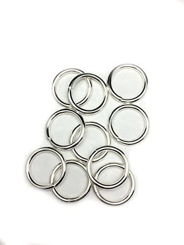 10 Sterling Silver Round Beauty products Open excellence Jump 17.1mm 12 Craf Gauge by Rings