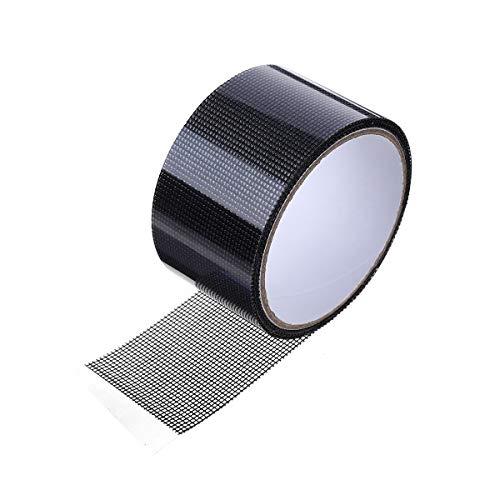 LIUMY 5cm(B) x200cm(L) Fliegengitter Moskitonetz Reparaturband, Insektenschutz Klebeband mit Wasserdicht und Durchlässigkeit, Fenster Reparaturband eine starke Haftung aufweist aus Glasfaser (Grau)