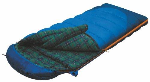 Alexika Tundra Plus Schlafsack – warm, bequem, rechteckig 3 Saison Deckenschlafsack für Erwachsene und Familien Outdoor Camping im niedrigen Temperaturen bis zu -2 C mit Kompressionsack, 230x90 cm, L