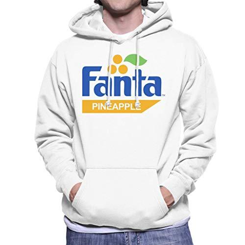 Fanta Pineapple Retro 1980s Logo Men's Hooded Sweatshirt