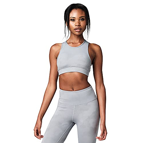 STRONG by Zumba Reggiseni Sportivi Athletic Dance Fitness ad Alto Impatto Top Donna, Grey, M