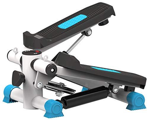 TKLLOVE Outdoor Stepper,Fitness Unisex's Deluxe Stepper Gym Fitness Workout Máquina Ejercicios Magnético Bidireccional Silencioso Potente Cilindro Hidráulico(Azul)