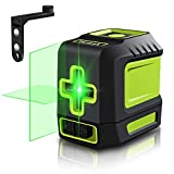 Line Laser Level Tool – 100ft Green Self Leveling Laser Line Level with Horizontal and Vertical Line Laser...
