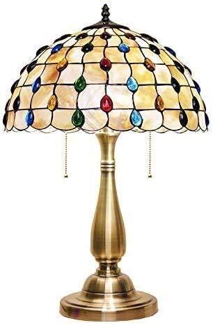Lámparas de mesa de Tiffany, lámpara de cristal Lámpara de pared Lámpara de mesa de lámpara de pared EUROPEA Lámpara de mesa Americana, sin decoración retro Cálido Fengwei Luz de cama Lámpara de ilumi
