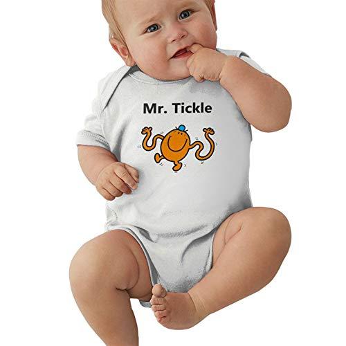 Mr. Tickle Baby Boys Pijama Unisex Romper Baby Girls Body Infant Kawaii Jumpsuit Outfit 0-2t Niños,Blanca,2 años