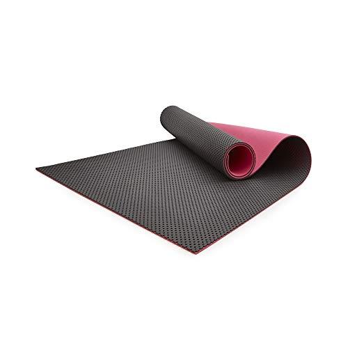 Idealfit Fitness Set: Mesh Yogamatte, Yoga Handtuch und Sporttasche, 58927