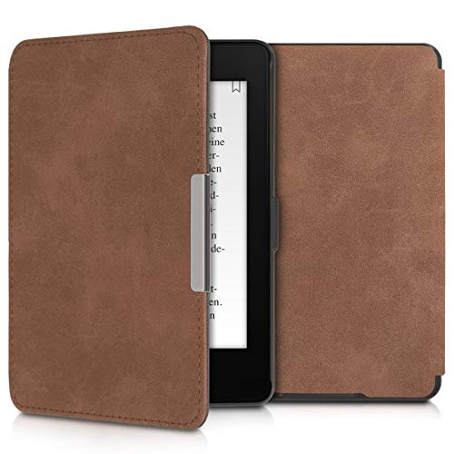 kwmobile Hülle kompatibel mit Amazon Kindle Paperwhite - Kunstleder eReader Schutzhülle Cover Case (für Modelle bis 2017) - Braun