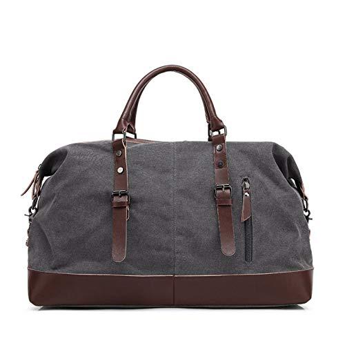 Laptop Case Handbag Water Resistant Canvas Satchel Laptop Briefcases Business Shoulder Bookbag by Buenos Aire - grey - 21.25x9.44x12.99