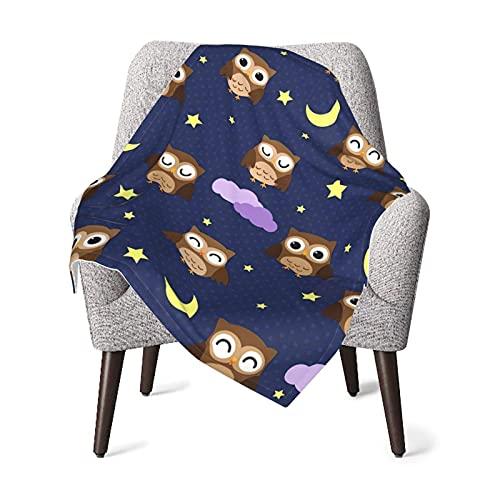 Manta de bebé Night Owl Suave y cálida Mantas de Tiro para niños niñas recién Nacidos 76X102CM