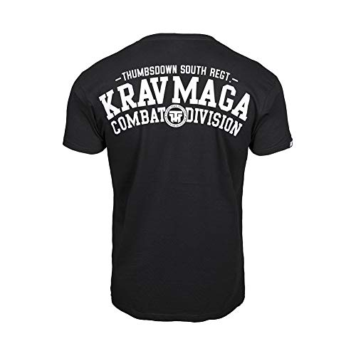 Thumbs Down Krav MAGA T-Shirt. Combat Dyvision. MMA. Kampfkünste. Gym. Training. Martial Arts, Schwarz, XL