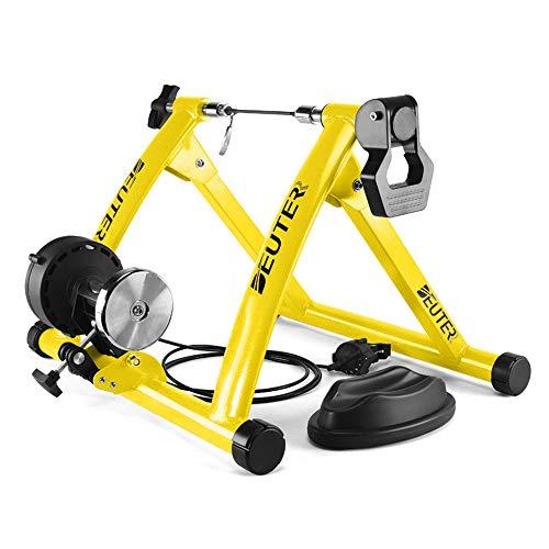 Lixada Rodillos para Bicicletas en Casa Magnético Plegable con 6 Niveles de Resistencia para Neumáticos de 26-28in Soporte de Entrenamiento de Ejercicio para Bicicleta