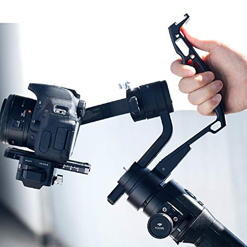 Inverted Handle Sling Grip - Neck Ring Mounting Extension Arm Holder Bracket with Microphone Cold Shoe Mount 1/4''-20 Locating Holes Compatible for DJI Ronin S Stabilizer Gimbal Accessories
