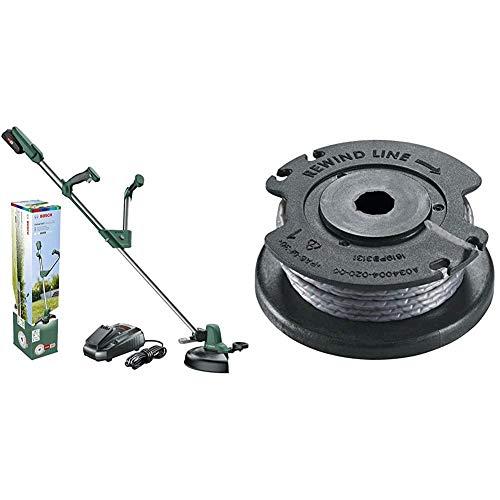 Bosch Rasentrimmer UniversalGrassCut 18-260 (1 Akku, 18 Volt System, 26 cm) & Fadenspule EasyGrassCut (Länge: 4m, Dicke: 1.6mm, geeignet für Akku Rasentrimmer EasyGrassCut)