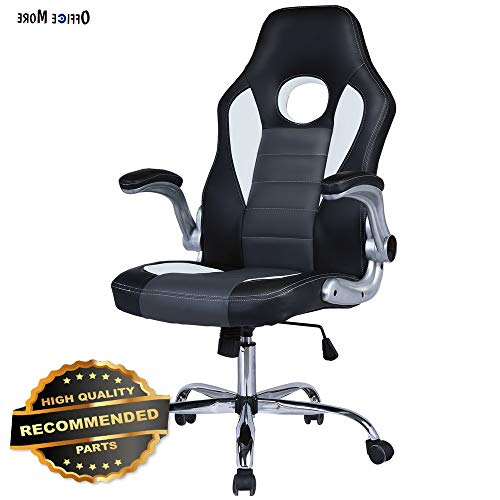 Top Gamer Ergonomic Gaming Chair High Back Swivel Computer Office Chair with Footrest Adjusting...