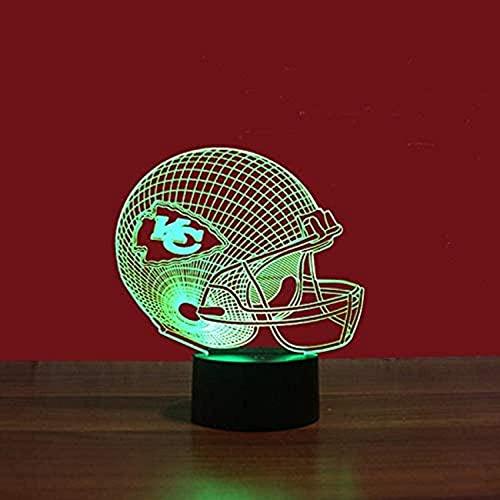 SONGYU Decoración Colorida de la luz de la visión de la Interfaz USB de la luz Nocturna 3D del Rugby